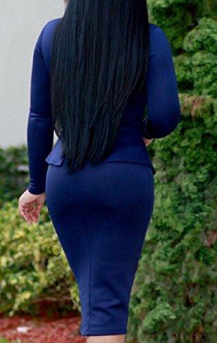 S donne Affari Abito Increspato Solido Coolred Dell'anca Pattern1 Al Del Collo Di Pacchetto Tartaruga Fiocco gBgE0xdw