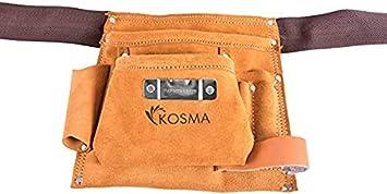 Kosma 5 Pocket D.I.Y. Delantal de piel de carpintero | Bolsa de electricista | Cinturón de herramientas | Bolsa de clavos