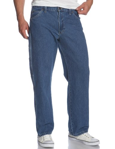 Mens Loose Blue Jeans - 3
