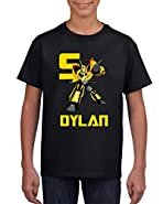 Wow! Custom Tees Transformers Bumblebee Boys T-Shirt - Personalize Name & Age …