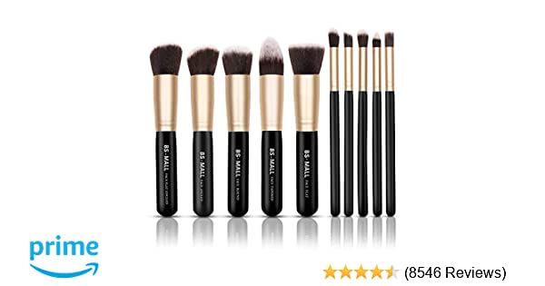 Amazon.com: BS-MALL(TM) Makeup Brushes Premium Makeup Brush Set Synthetic Kabuki Cosmetics Foundation Blending Blush Eyeliner Face Powder Brush Makeup Brush ...