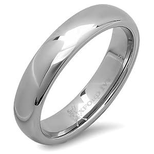 5mm mens plain comfort fit tungsten wedding band available ring sizes 7 12 - Mens Tungsten Wedding Rings