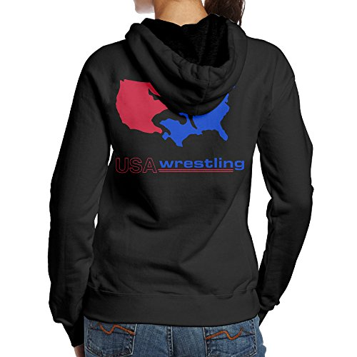 Kystal USA Wrestling Logo Women's BlackPrint Sweater Size S Black