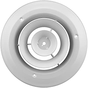 Accord ABCDWH06 Round Ceiling Diffuser, 6-Inch, White