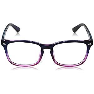 d8cda1e215 TIJN Unisex Wayfarer Non-prescription Glasses Frame Clear Lens Eyeglasses