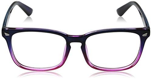 TIJN Unisex Wayfarer Non-prescription Glasses Frame Clear Lens Eyeglasses