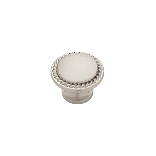 Liberty PN0293-SN-C 30mm Rope Edged Kitchen Cabinet Hardware Knob, Satin Nickel - Cabinet And Furniture Knobs - Amazon.com