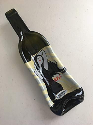 California Red Zinfandel Wine - Beautiful woman wine bottle - gently slumped into a bowl or spoon rest
