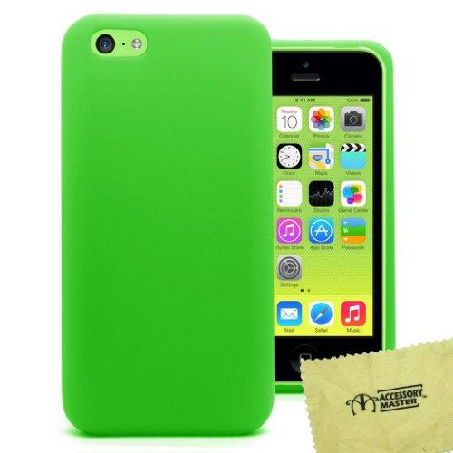 Accessory Master 5055716373264 Silikon Gel Schutzhülle für Apple iPhone 5C grün