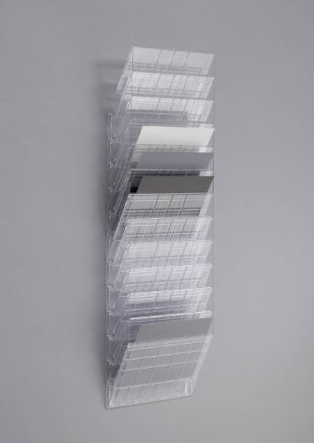 Durable 1709781400 Flexiboxx Prospektspenderset (12 A4 Querformat) 1 Set transparent