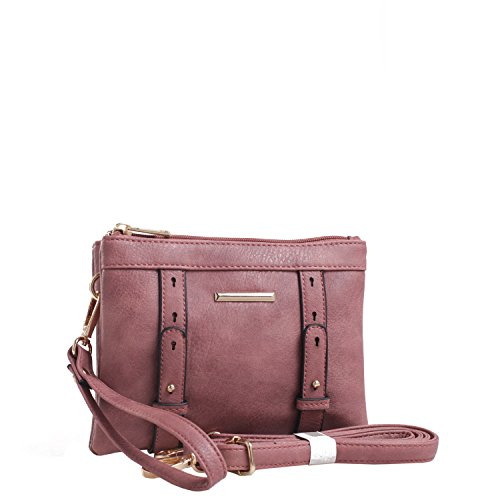 K MKF Mia Farrow Cara Rose by Compartment Collection Double Crossbody Dust qIwrEwtW