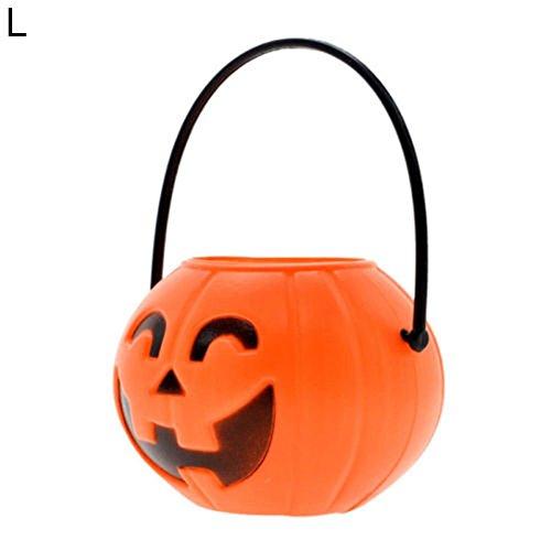 Treat Diwali - BrawljRORty Lights, Trick or Treat Halloween Party Prop Candy Holder Toy Pumpkin Bucket with Handle