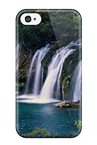 Premium Durable Earth Waterfall Fashion Tpu Iphone 4/4s Protective Case Cover Sending Screen Protector in Free