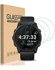 HEYUS [3 Pack] for Garmin Forerunner 745 Screen Protector Glass, 0.3mm Ultra-Thin 9H Hardness Anti-Fingerprint 2.5D Round Edge Watch Tempered Glass Screen Protector for Garmin 745