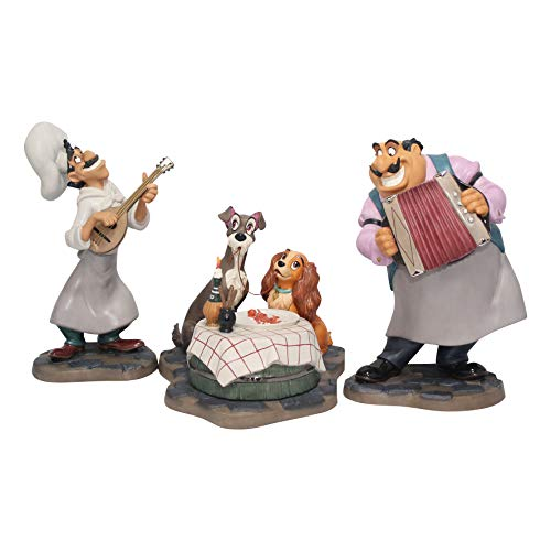 Disney WDCC Bella Notte, Lady, Tramp, Tony and Joe Figurine 11K412840 ()