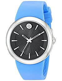Philip Stein ' Quartz Stainless Steel and Silicone Automatic Watch, Color:Blue (Model: F36S-LCB-BL)