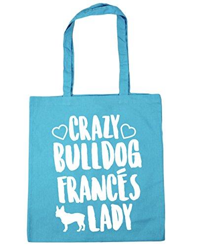 10 de Lady Bolsa para 38cm x HippoWarehouse Playa Compra Azul Asas 42cm Bolso Celeste litros Con Crazy gimnasio capacidad Francés Bulldog aqwBAX