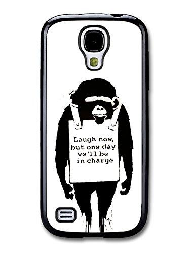 Banksy Laugh Now Chimp Ape coque pour Samsung Galaxy S4 mini