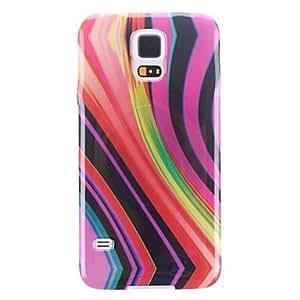 GONGXI-Resumen del Diseño de la cubierta del caso de TPU suave trasera protectora Stripes para Samsung Galaxy i9600 S5