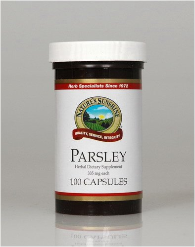 Naturessunshine Parsley Support Kidneys and Urinary System 335 mg 100 Capsules (Pack of 12)