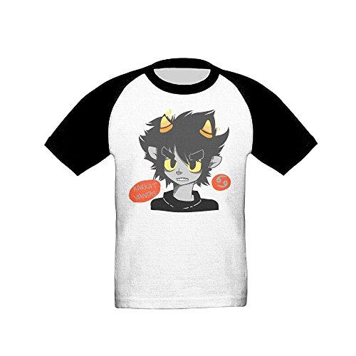[Kids (Age 2-6T) Karkat Vantas Short Sleeve Raglan Baseball T-Shirt, Casual Tees For Boys And Girls 5-6] (John Homestuck Costumes)