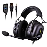 SHENGY PC Headset 7.1 Virtual (Drive-Free) 50mm Surround Sound ENC Noise Reduction PUBG/LOL/Video Mode Headphones for Xbox, PS4, Mobile Phone (Ergonomic Design)