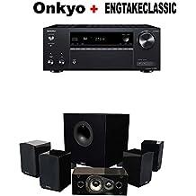 Onkyo TX-NR585 Receiver + Energy 5.1 Take Classic Home Entertainment System (Set of Six, Black) Bundle