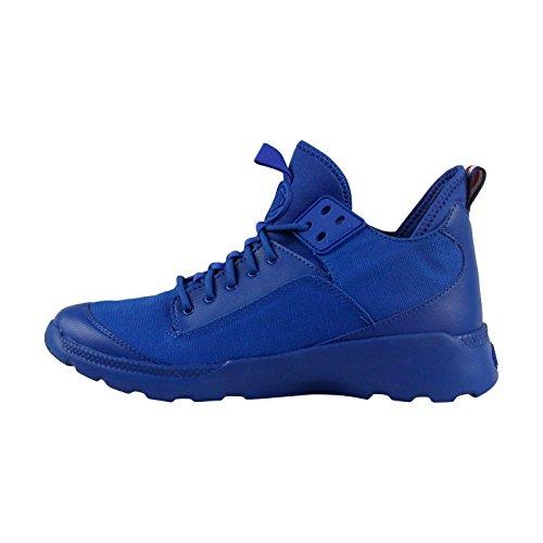 Palladium Desvilles Mens Blauw Canvas Hoge Top Veters Sneakers Schoenen