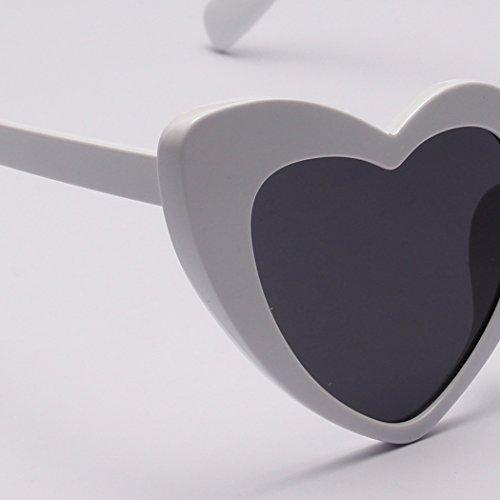 mioim femme de carrées pour en Lunettes de Blanc soleil lentille Polarisées coeur UV400 et Réfléchissantes Fashion homme Lunettes peach multicolore forme Modernes rqFrH