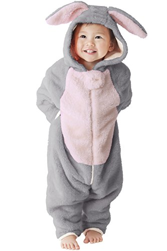 [Sweet Mommy Baby Bunny Onesie LightGray90] (Halloween Costumes 36 Months)