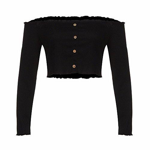 T Camicia Donna Maglitte Maglione Bluse Shirt Tops Cappuccio Lunghe Da Felpe A E Con Estate Nero Elegante Camicetta Maniche Chiffon Crop Maglie Yusealia Freddezza QxBtsChrd
