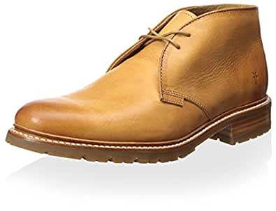 Amazon Com Frye Men S James Lug Chukka Boot Tan 7 5 M