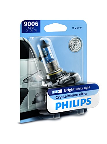 Philips 9006 CrystalVision Ultra Upgrade Bright White Headlight Bulb, 1 Pack ()