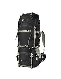 Mountaintop Unisex Outdoor Hiking Daypack Internal Frame Backpacks -70L (Black)