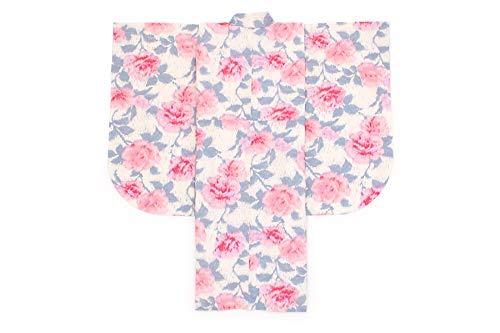 袴用二尺袖着物 JILLSTUART(ジルスチュアート) 白 オフホワイト ピンク 薔薇 ローズ 花 重衿付き 小紋柄 小振袖 卒業式 謝恩会 女性 日本製