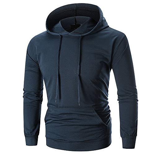 - ◕‿◕ Toponly Men's Long Sleeve Solid Hoodie Hooded Sweatshirt Tops with Pocket