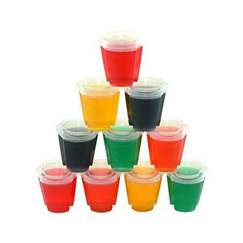 (50 EZ-Squeeze Jello Shot Cups with Lids - 2 oz. Max Capacity)