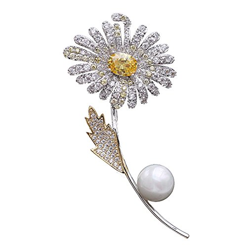Croozy Gorgeous Crystal Rhinestone Floriated Brooches Scarves Buckle Collar Pin by Croozy