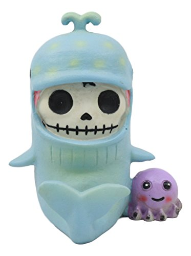 Ebros Furry Bones Sea World Moby Dick The Whale Costume Skeleton Monster with Purple Octopus Collectible Figurine 3.25