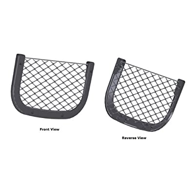 Map Pocket - Curved Lightweight Frame, Mesh Retainer - High-end Auto, RV, Bus, Marine, Utility Vehicle Map and Chart Pocket: Automotive