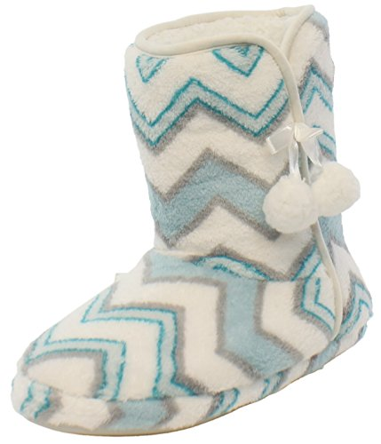 PajamaMania Women's Slipper Boots with Rubber Sole PajamaMania