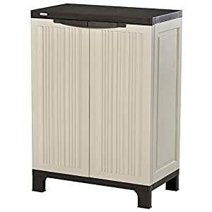 Outsunny Plastic Utility Store Cabinet Adjustable Shelves