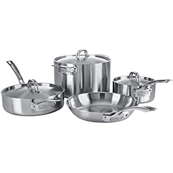 Viking Professional 5 Ply Stainless Steel Cookware Set, 7 Piece
