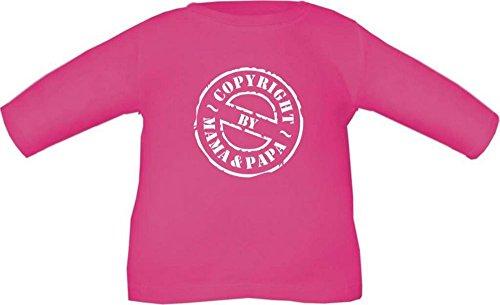 Baby / Kinder T-Shirt langarm (Farbe fuchsia) (Größe 76/86) Copyright by Mama und Papa NEU