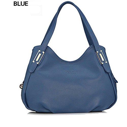 Eysee - Bolso de tela de Piel Sintética para mujer azul zafiro