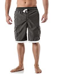 US Apparel Men's Surf Swim Board Shorts with Lining