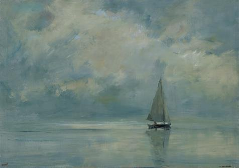 Sea Sailing Pirate Costumes - 'Decorative Landscape Painting Of A Sailing Boat On The Sea' Oil Painting, 16x23 Inch / 41x58 Cm ,printed On Perfect Effect Canvas ,this High Definition Art Decorative Prints On Canvas Is Perfectly Suitalbe For Foyer Gallery Art And Home Gallery Art And Gifts