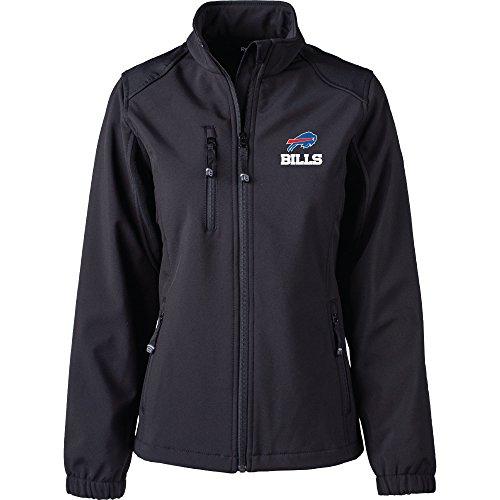 Dunbrooke Apparel NFL Buffalo Bills Women's Softshell Jacket, Medium, Black