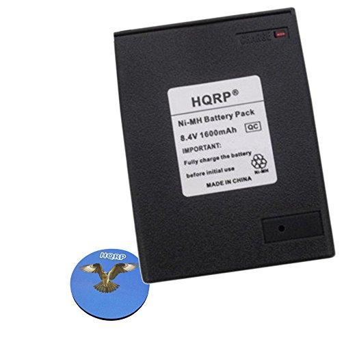 HQRP 1600mAh Ni-MH Battery for Icom BP-8 IC-02AT / 2AT / IC-03AT / 3AT Two Way Radio Replacement plus HQRP Coaster