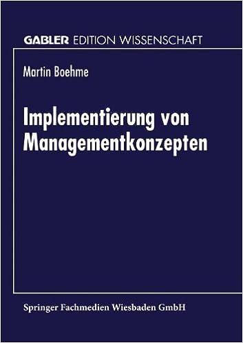 Book Implementierung von Managementkonzepten (Gabler Edition Wissenschaft)